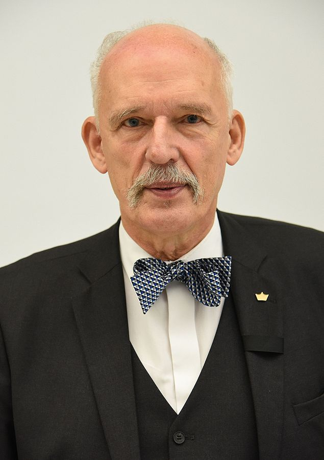 Janusz Korwin-Mikke / Foto: Adrian Grycuk (Own work) [CC BY-SA 3.0 pl (http://creativecommons.org/licenses/by-sa/3.0/pl/deed.en)], via Wikimedia Commons